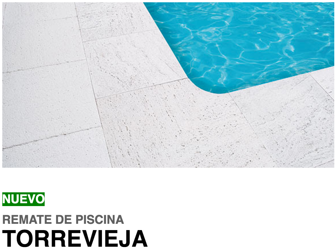 Remate de piscina torrevieja anfer cer micas for Piscina torrevieja